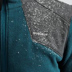 Fleece vest voor sneeuwwandelen heren SH500 X-warm grijsblauw