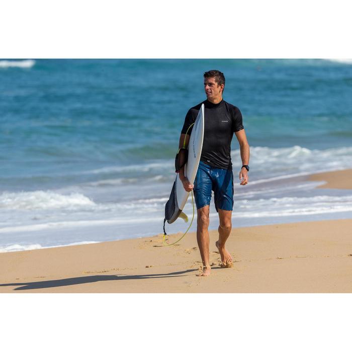 tee shirt anti UV surf top 900 Thermique polaire Manches Courtes Homme Noir