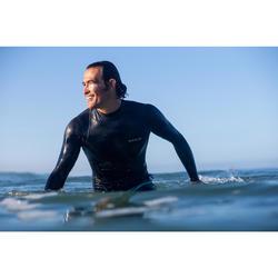 UV-Shirt langarm Surfen Top 500 Herren schwarz/grau