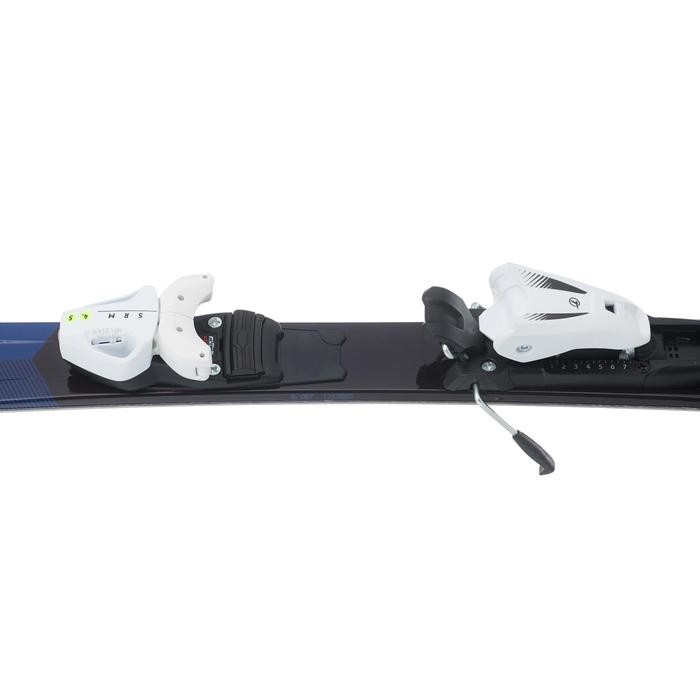 CHILDREN'S DOWNHILL SKIS WITH BOOST 500 BINDINGS - BLUE