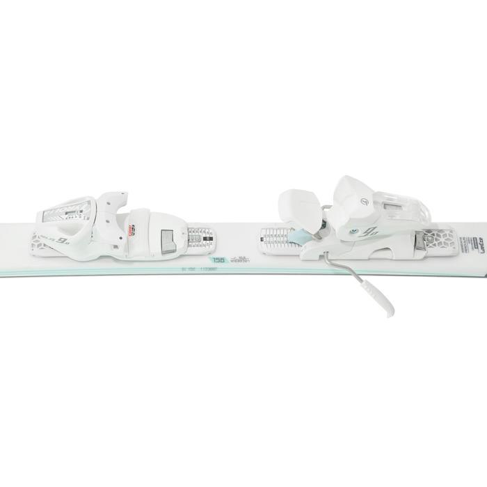 Pisteski's voor dames met binding Adix 500 wit