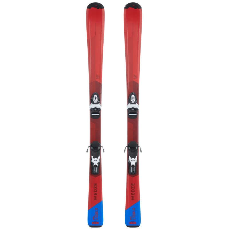 CHILDREN ON PISTE SKIING EQUIPMENT Skiing - JR SKI/BINDINGS BOOST 500-RED WEDZE - Ski Equipment