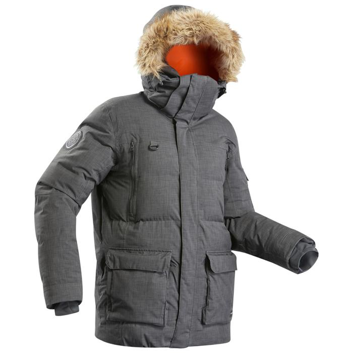 極地健行連帽外套100 -灰色