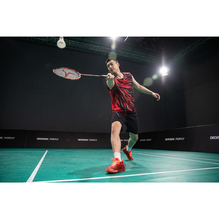Badmintonracket voor volwassenen BR 990 P rood/oranje