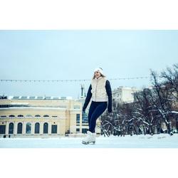 Patin à glace 500 femme blanc