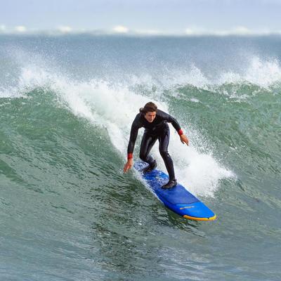 Combinaison SURF 500 Néoprène 4/3 mm homme Bleu marine