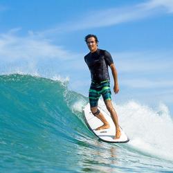 Uv-werende rashguard 500 met korte mouwen voor heren, voor surfen, zwart