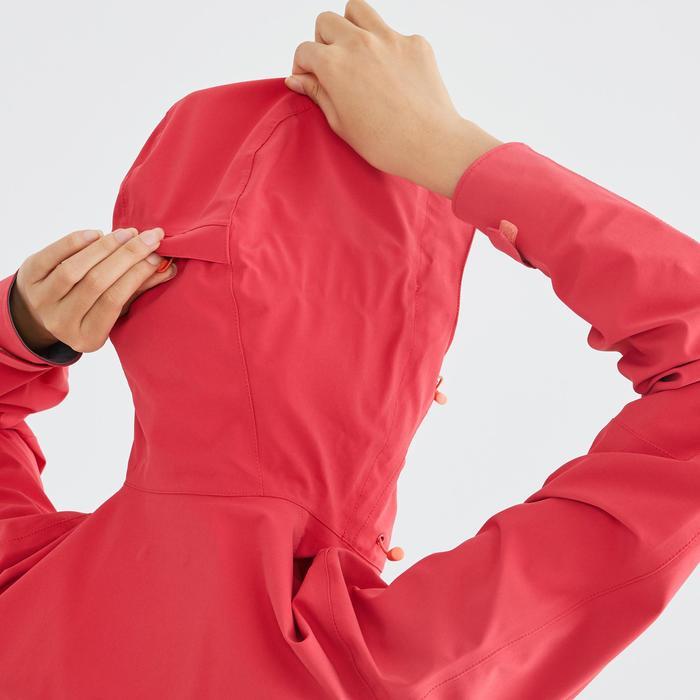 MH500 Women's Waterproof Mountain Walking Jacket - Pink Redcurrant