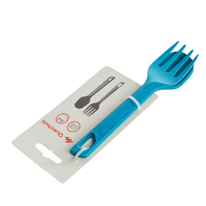 2入露營塑膠餐具組(叉子、湯匙)-藍色