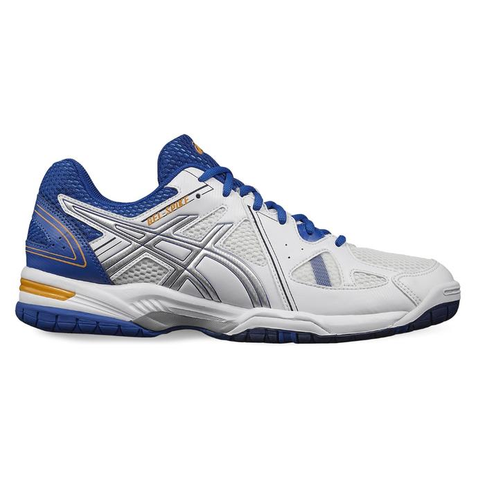 Chaussures de volley-ball homme Gel Spike blanches et bleues Asics