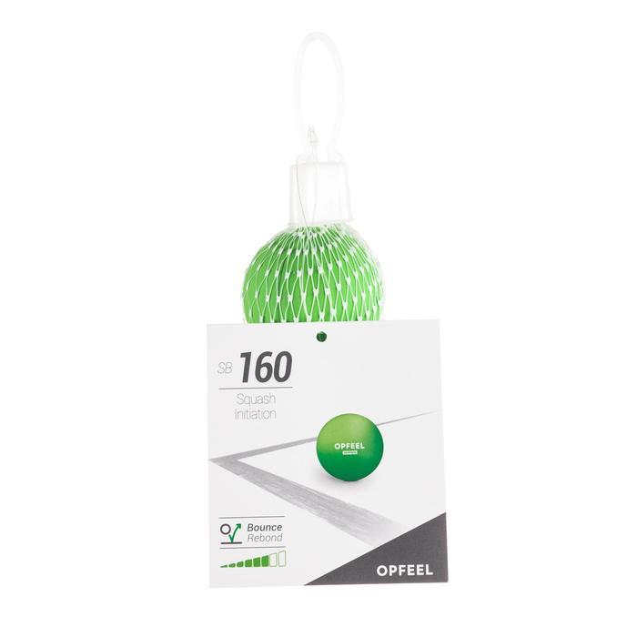 Squashbal SB 160 groene stip Initiatie