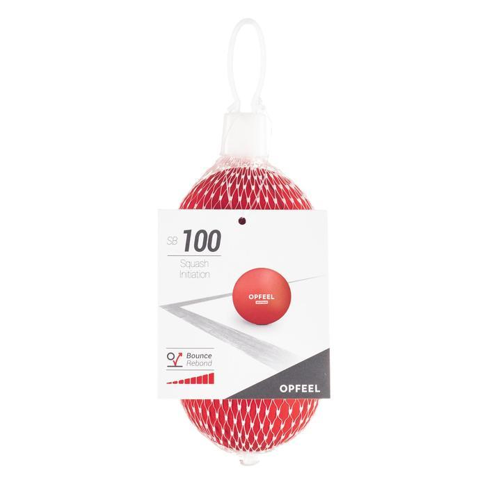 Pelota de squash SB 100 Rojo Iniciación