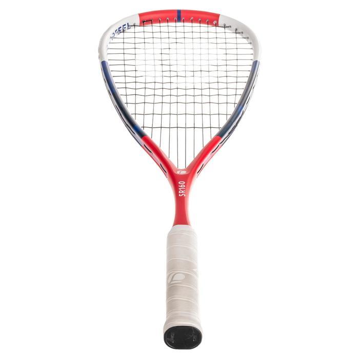 Squashschläger-Set SR 160 Schläger SR160, Schutzhülle, Ball SB560 roter Punkt