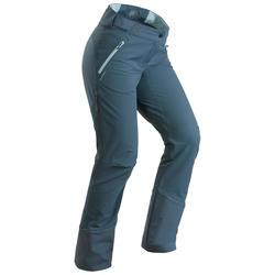 女款超保暖雪地健行長褲SH520─灰色/藍色