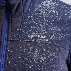 女款超保暖雪地健行刷毛外套SH500-藍色