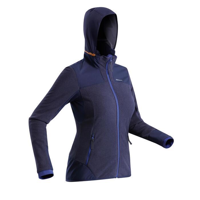 Fleece vest dames SH500 X-warm blauw
