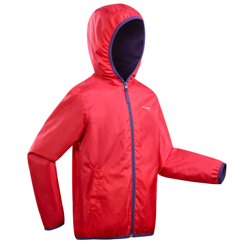 BOY SNOW HIKING JACKETS & WARM PANTS - Raincut Girl's Waterproof Jacket - Pink
