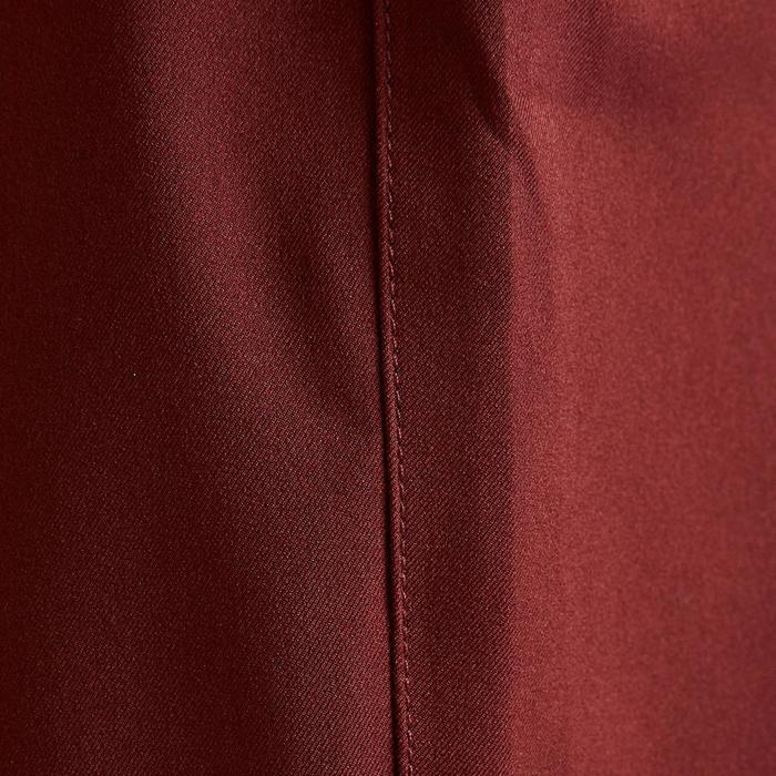 Pantalón corto de fútbol mujer F500 borgoña