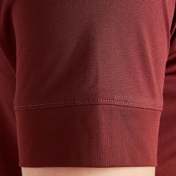 Voetbalshirt dames F500 bordeaux/rood