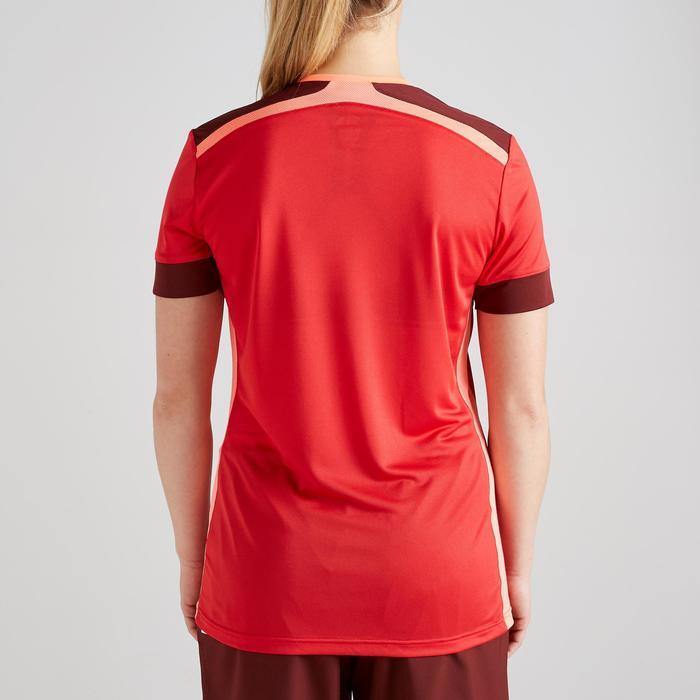 Fußballtrikot F500 Damen bordeaux/rot