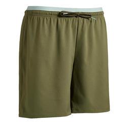 Pantalón corto de fútbol mujer F500 verde bronce
