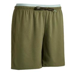 Short de football femme F500 vert bronze