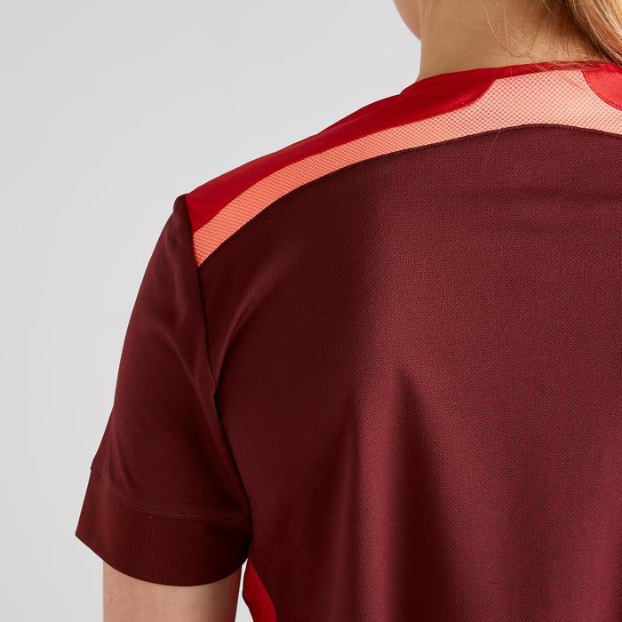Maillot de football femme bordeaux rouge