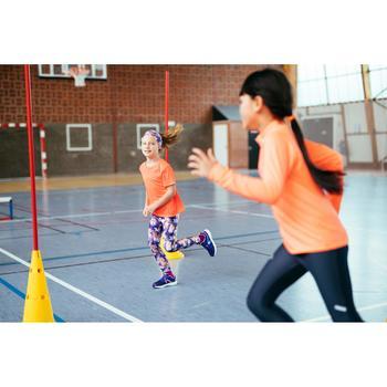 Atletiekschoenen voor kinderen Run Support klittenband paars/koraalrood