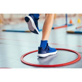 Laufschuhe Easy Leichtathletik Kinder blau
