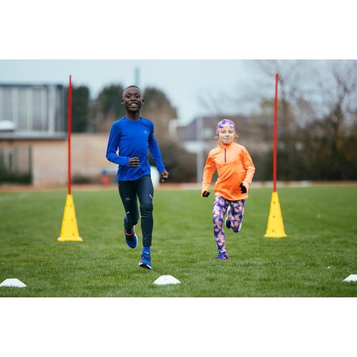 Maillot manches longues enfant d'athlétisme Skincare bleu