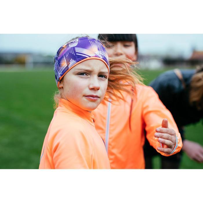 Bandeau réversible Athlétisme enfant imprimé violet/corail fluo