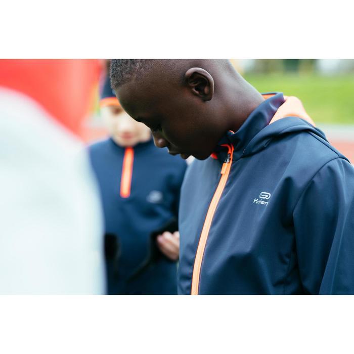 Veste chaude Athlétisme enfant grise orange