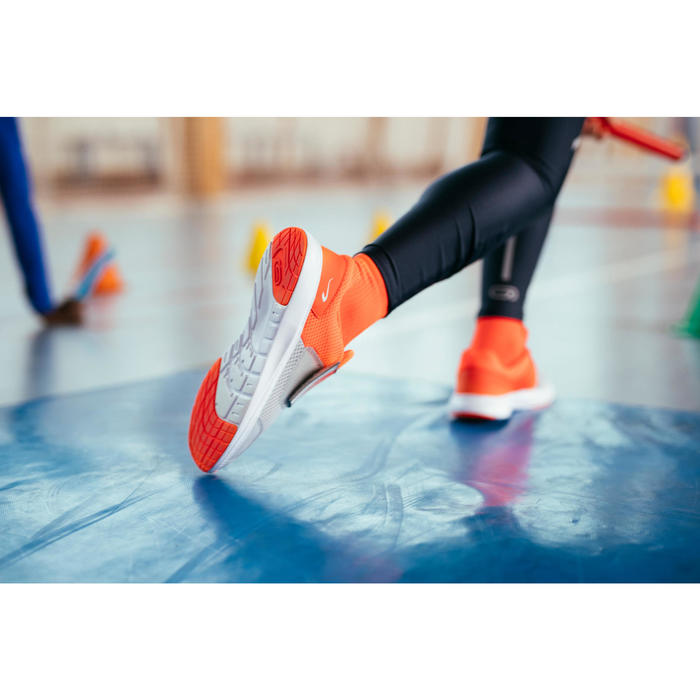 Zapatillas Atletismo Running Kalenji AT Easy Niños Rojo/Gris