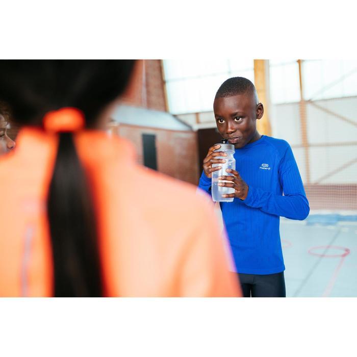Laufshirt langarm Skincare Leichtathletik Kinder blau