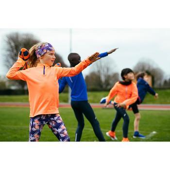 Collant athlétisme AT100 enfant imprimé violet