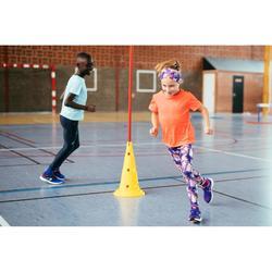 Mallas Térmicas Atletismo Kalenji AT100 Niños Estampado violeta