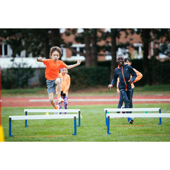 Laufschuhe Easy Leichtathletik Kinder rot/grau
