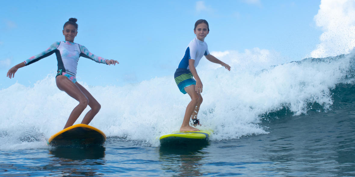 OLAIAN SURF panoplie boardshort top uv débutant junior PE19
