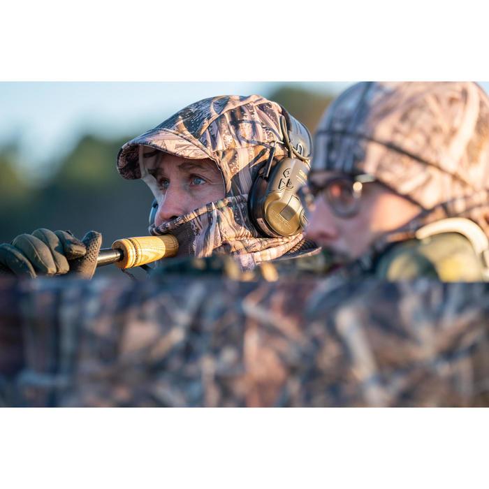 Cagoule chasse chaude 500 camouflage marais