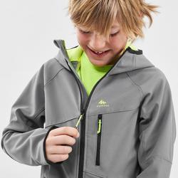 Veste softshell de randonnée enfant MH550 Grise 7-15 ans