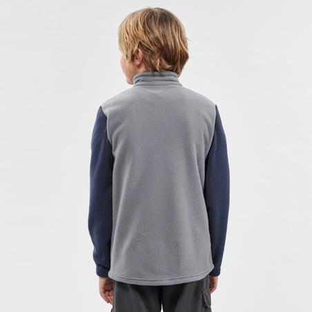 Kids' Hiking Fleece - MH100 Aged 7-15 - Grey