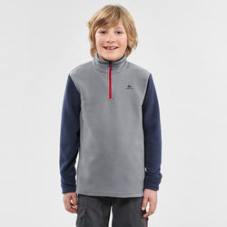 Polaire de randonnée enfant MH100 grise 7-15 ans