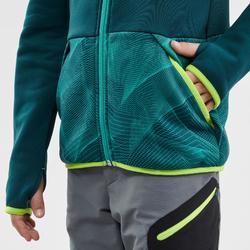 Polaire de randonnée enfant MH500 vert turquoise 7- 15 ans