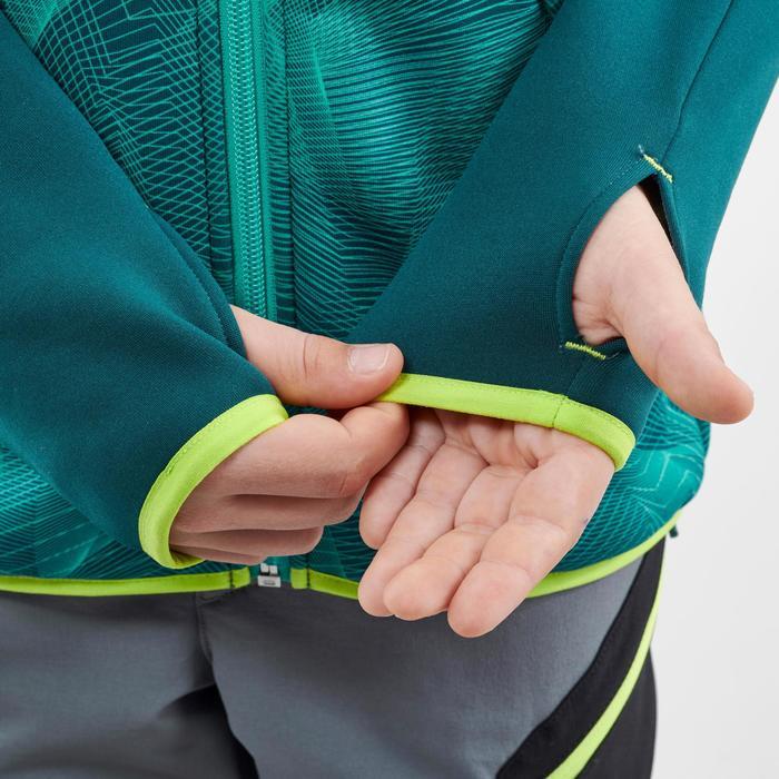 Fleece vest voor wandelen kinderen MH500 groen/turquoise 7-15 jaar