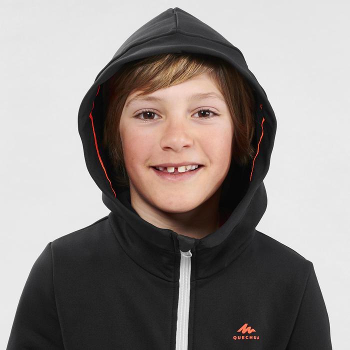 Fleece vest voor wandelen kinderen MH500 zwart/grijs 7- 15 jaar