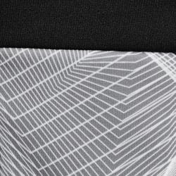 Polaire de randonnée enfant MH500 noir gris 7- 15 ans