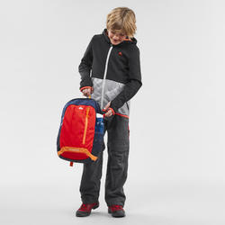 Fleecejacke MH500 Wandern Kinder 7–15 Jahre schwarz/grau