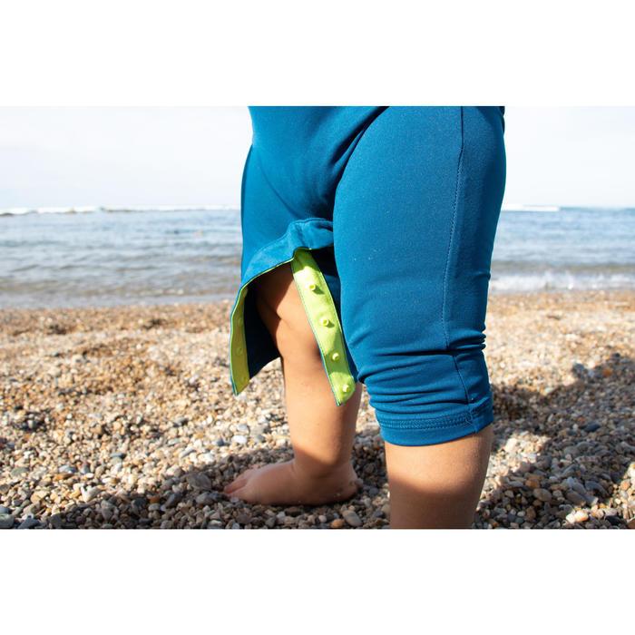 Uv-werende shorty met lange mouwen voor peuters anijsgroen