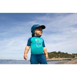 tee shirt anti UV shorty surf manches courtes bébé bleu