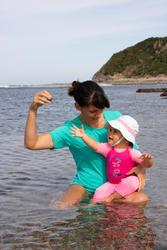 T-SHIRT D'EAU anti-UV surf Manches Courtes femme turquoise